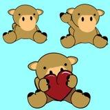 Cute camel baby cartoon set Royalty Free Stock Photos