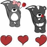 Cute camel cartoon love heart set Stock Photos