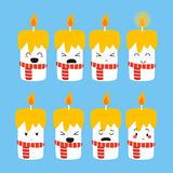 Cute Candles Expressions Vector Stock Photography