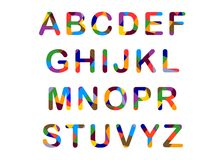 Cute candy-colored alphabet Royalty Free Stock Image