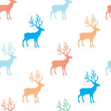 Cute candy colored deer vector illustration
