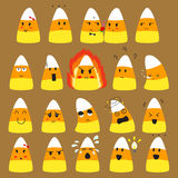 Cute Candy Corn Doodle Vector. Emoticons Collections vector illustration