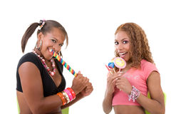 Cute candy girls Royalty Free Stock Photography