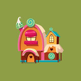 Cute Candy House. Vector Illustartion Royalty Free Stock Image