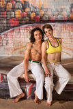 Cute Capoeira Couple Royalty Free Stock Photos