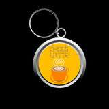 Cute cappuccino key-chain Stock Images