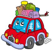 Cute car with baggage Stock Image