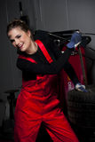 Cute Car Mechanic Stock Photo