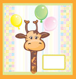 Cute card for baby. Royalty Free Stock Photos