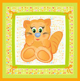 Cute card for baby. Royalty Free Stock Photo
