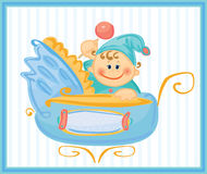 Cute card for baby boy. Stock Photos