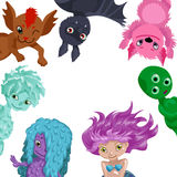 Cute card with cartoon monster Royalty Free Stock Photo