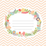 Cute card with flower bouquet Royalty Free Stock Photo
