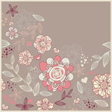 Cute card with flowers Royalty Free Stock Photography