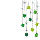 Cute card with four-leaf clover. On st. Patrick's day stock illustration