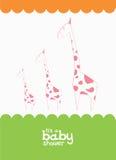 Cute card with giraffe Royalty Free Stock Photo
