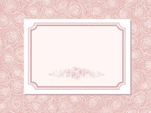 Cute card with  roses Royalty Free Stock Photography