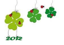 Cute card with shamrock Royalty Free Stock Photo