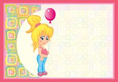 Cute card for small baby vector illustration