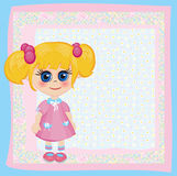 Cute card for small girl. Stock Images