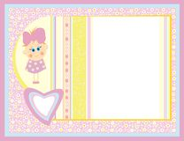 Cute card for small girl. Royalty Free Stock Photography