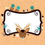 Cute card template with adorable wild animals Stock Photography