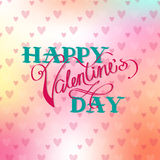 Cute card to Valentine's Day Royalty Free Stock Image