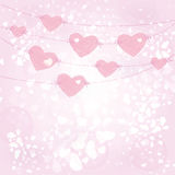 Cute card on valentine's day Royalty Free Stock Photos