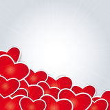 Cute card on valentine's day Stock Image