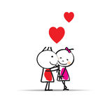 Cute card on valentines day Royalty Free Stock Photo