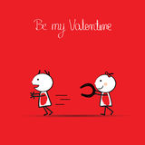 Cute card on valentines day Stock Image