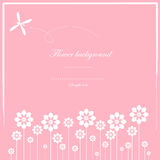 Cute card  and white flower pattern Stock Image
