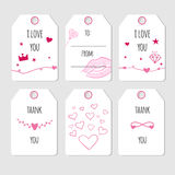 Cute cards for Valentine day Royalty Free Stock Photos
