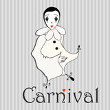 Cute carnival girl Stock Image