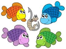 Cute carp collection. Vector illustration Stock Photography