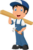 Cute Carpenter cartoon Royalty Free Stock Photography