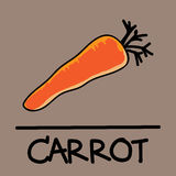 Cute carrot hand-drawn style, vector illustration. Cute carrot  hand-drawn style,drawing,hand drawn vector illustration Royalty Free Stock Image