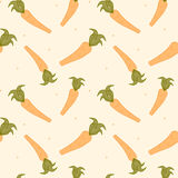 Cute carrots seamless pattern background illustration Stock Photography