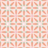 Cute carrots seamless vector pattern royalty free illustration