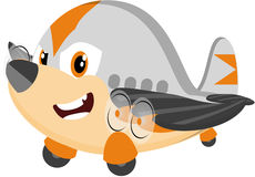 Cute cartoon airplane Royalty Free Stock Photos