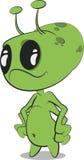 Alien. Cute cartoon alien clip art royalty free illustration