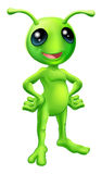 Cute cartoon alien illustration Royalty Free Stock Photo