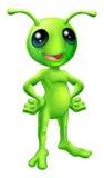 Cute cartoon alien illustration Royalty Free Stock Photo