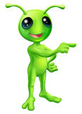 Cute Cartoon Alien Pointing Stock Photo