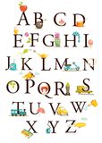 Cute cartoon alphabet Royalty Free Stock Photo