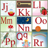 Cute cartoon alphabet Royalty Free Stock Image