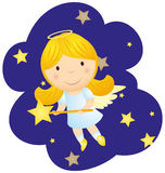 Cute cartoon angel girl Stock Image