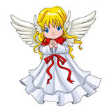 Cute Cartoon Of An Angel Stock Images