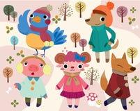 Cute cartoon animal Stock Photography