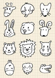 Cute cartoon animal face Stock Photos